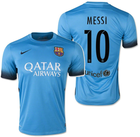 NIKE LIONEL MESSI FC BARCELONA THIRD NIGHT RISING JERSEY 2015/16.