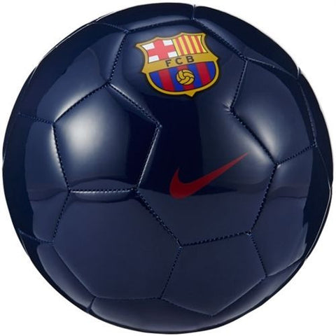 NIKE FC BARCELONA SUPPORTERS SOCCER BALL SIZE 5 Navy/Red.