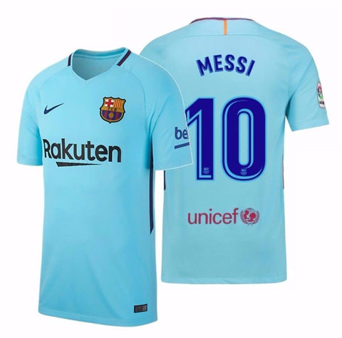 NIKE LIONEL MESSI FC BARCELONA AWAY YOUTH JERSEY 2017/18.