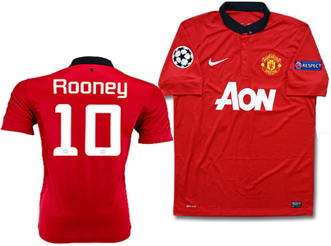 NIKE W. ROONEY MANCHESTER UNITED UEFA CHAMPIONS LEAGUE HOME JERSEY 2013/14