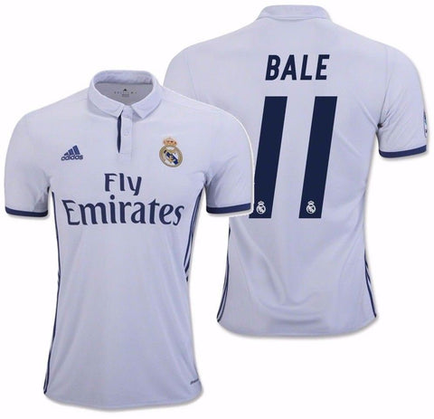 ADIDAS GARETH BALE REAL MADRID HOME JERSEY 2016/17 LA LIGA SPAIN.