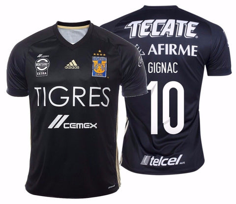 ADIDAS ANDRE PIERRE GIGNAC TIGRES UANL 5 STARS THIRD JERSEY 2017.