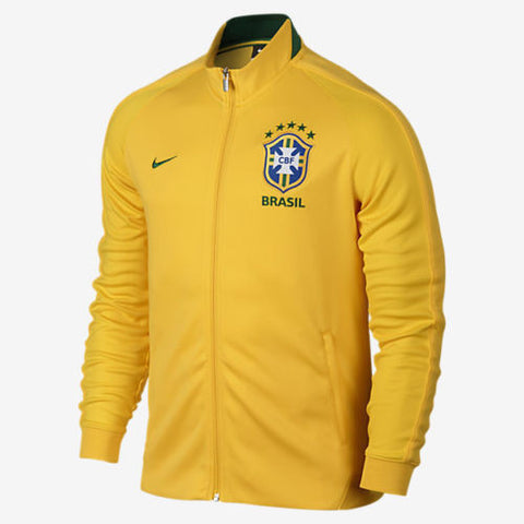 NIKE BRAZIL AUTHENTIC N98 JACKET Varsity Maize/Pine Green.