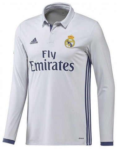 ADIDAS REAL MADRID LONG SLEEVE HOME JERSEY 2016/17