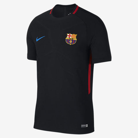NIKE FC BARCELONA STRIKE TRAINING TOP 2017/18 Black/Black/University Red/Soar