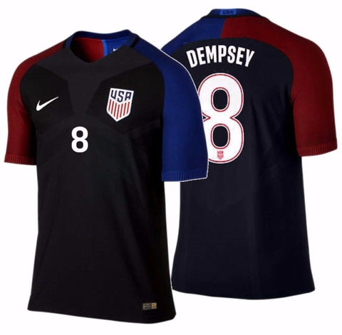NIKE CLINT DEMPSEY USA VAPOR MATCH AUTHENTIC AWAY JERSEY 2016/17.
