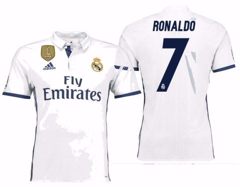 ADIDAS C. RONALDO REAL MADRID AUTHENTIC ADIZERO HOME MATCH JERSEY 2016/17 FIFA.