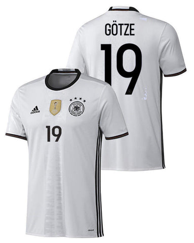 ADIDAS GERMANY EURO 2016 MARIO GOTZE HOME JERSEY White/Black.