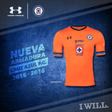 UA UNDER ARMOUR CEMENTEROS CRUZ AZUL THIRD JERSEY 2015/16