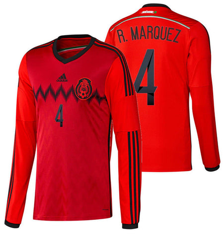 ADIDAS RAFAEL MARQUEZ MEXICO LONG SLEEVE AWAY JERSEY FIFA WORLD CUP 2014.