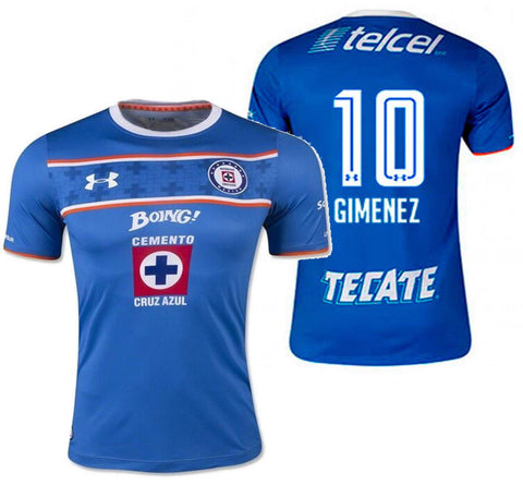 UA UNDER ARMOUR CHRISTIAN GIMENEZ CRUZ AZUL HOME JERSEY 2015/16.