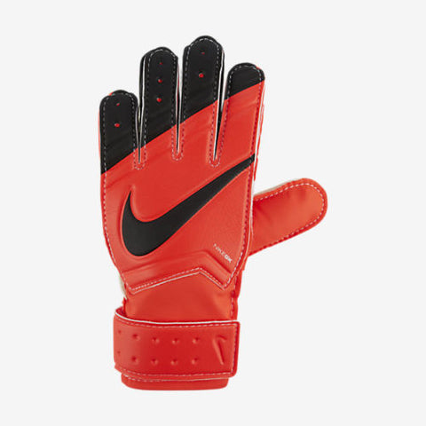 NIKE GK JUNIOR GRIP GOALKEEPER GLOVES JR. GRIP YOUTH SIZES Bright Crimson/White