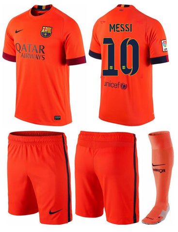 NIKE LIONEL MESSI FC BARCELONA LITTLE BOYS AWAY KIT 2014/15