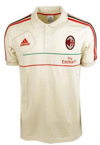 buy popular f948d eb701 ADIDAS AC MILAN TRAVEL POLO SHIRT Bone/Red.