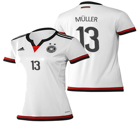 ADIDAS THOMAS MULLER GERMANY WOMEN'S HOME JERSEY 2015/16.
