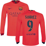 NIKE L. SUAREZ FC BARCELONA LONG SLEEVE AWAY JERSEY 2014/15 FOOTBALL LA LIGA