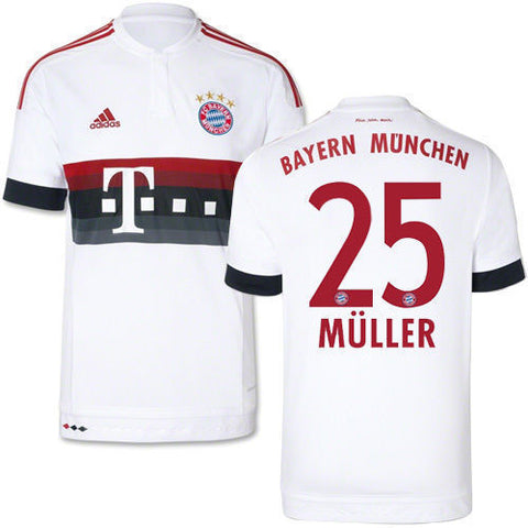 the best attitude 864ef 0d98c ADIDAS THOMAS MULLER BAYERN MUNICH AWAY JERSEY 2015/16.
