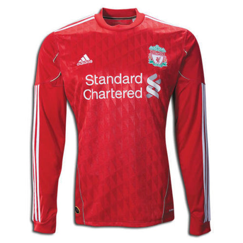 ADIDAS LIVERPOOL FC LONG SLEEVE HOME JERSEY 2010/12