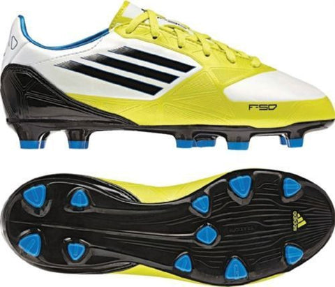 ADIDAS F10 TRX FG FIRM GROUND SOCCER SHOES. Running White/Lime Lab/Tec