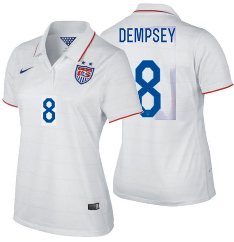 788849f3f09 NIKE CLINT DEMPSEY USA WOMEN S HOME JERSEY USWNT FIFA WORLD CUP 2014 ...