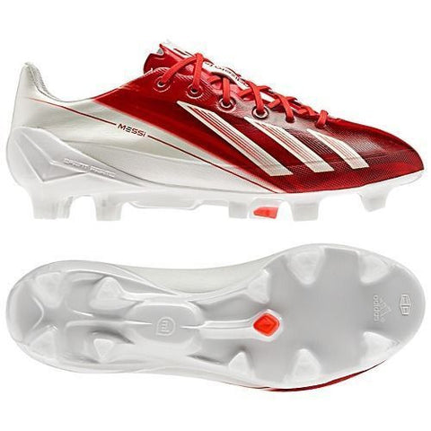 ADIDAS MESSI F50 ADIZERO TRX FG FIRM GROUND SOCCER  SHOES White/Red