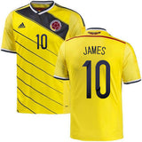 ADIDAS JAMES RODRIGUEZ COLOMBIA HOME JERSEY FIFA WORLD CUP BRAZIL 2014.