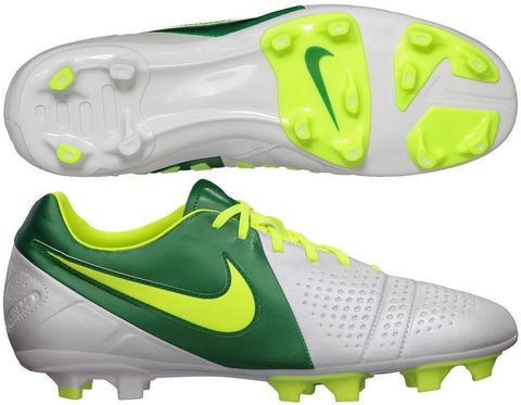 NIKE CTR360 LIBRETTO III FG FIRM GROUND SOCCER SHOES White/Volt/Pine Green