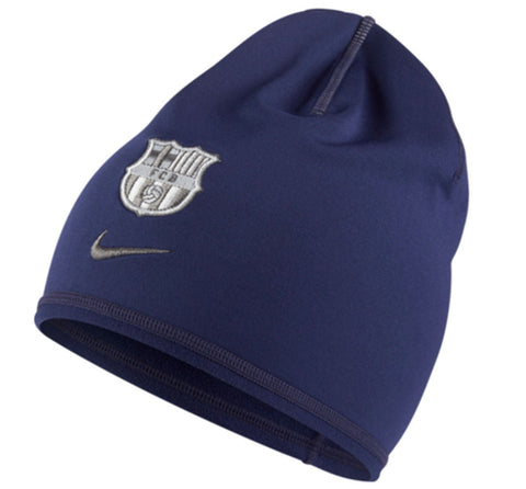 NIKE FC BARCELONA TRAINING BEANIE ONE SIZE Blue/Silver.