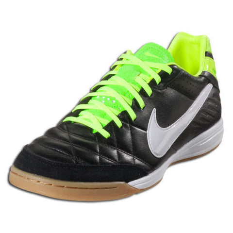 NIKE TIEMPO MYSTIC IC INDOOR SOCCER SHOES Black/Volt/White