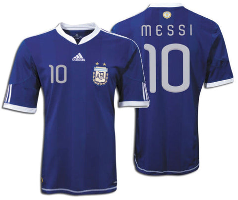 ADIDAS ARGENTINA LIONEL MESSI AWAY JERSEY FIFA WORLD CUP SOUTH AFRICA 2010