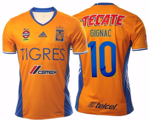ADIDAS ANDRE PIERRE GIGNAC TIGRES UANL 5 STARS HOME JERSEY 2017.