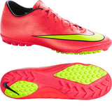 NIKE MERCURIAL VICTORY V TF SOCCER TURF SHOES Hyper Punch/Metallic Gold Coin