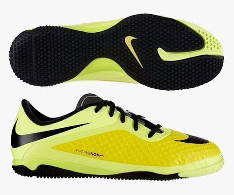 NIKE HYPERVENOM PHELON IC INDOOR SOCCER FUTSAL SHOES Vibrant Yellow/Black