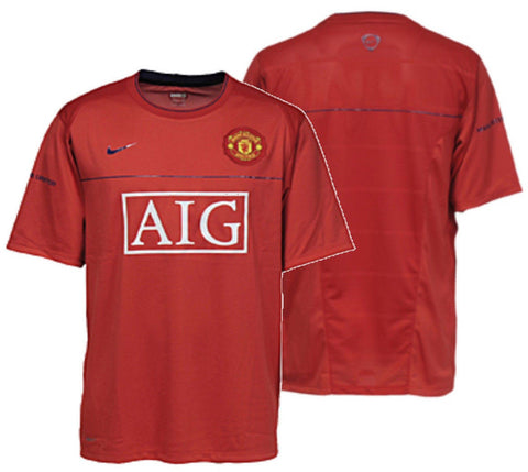 599b660365b NIKE MANCHESTER UNITED TRAINING TOP Red Blue. – REALFOOTBALLUSA.NET