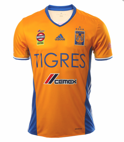 ADIDAS TIGRES UANL 5 STARS HOME JERSEY 2017.