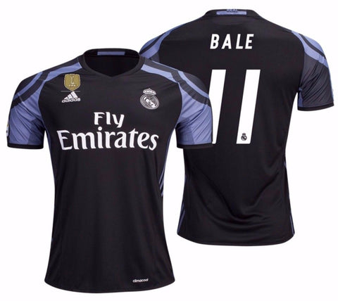 ADIDAS GARETH BALE REAL MADRID FIFA PATCH THIRD JERSEY 2016/17.
