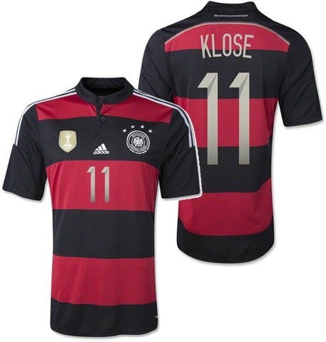 ADIDAS MIROSLAV KLOSE GERMANY 4 STAR AWAY JERSEY FIFA WORLD CUP 2014 CHAMPION