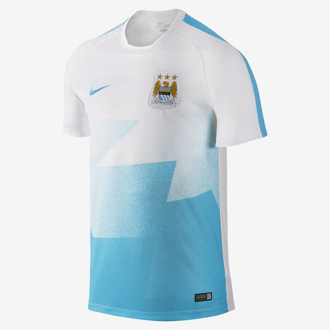 NIKE MANCHESTER CITY FLASH PRE MATCH TRAINING TOP.