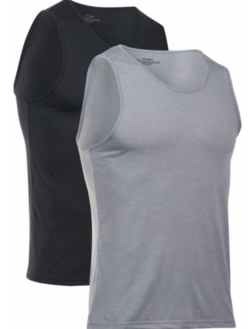 UA UNDER ARMOUR CORE UNDERSHIRT TANK TOP MEN'S 2-PACK Black/Gray