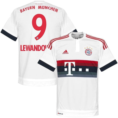 ADIDAS ROBERT LEWANDOWSKI BAYERN MUNICH AWAY JERSEY 2015/16.