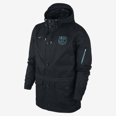 NIKE FC BARCELONA SATURDAY 2.0 AUTHENTIC JACKET Black/Light Current Blue