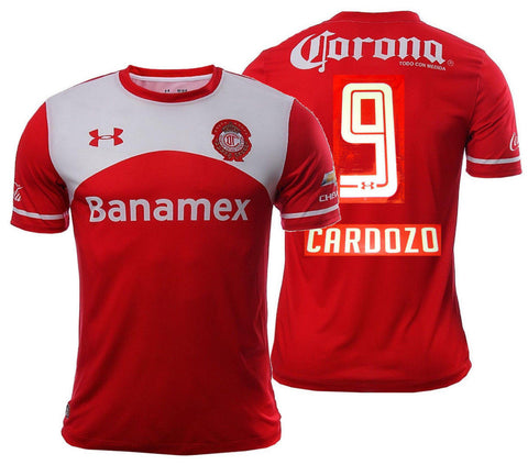 UA UNDER ARMOUR JOSE S. CARDOZO CLUB DEPORTIVO TOLUCA HOME JERSEY 2015/16