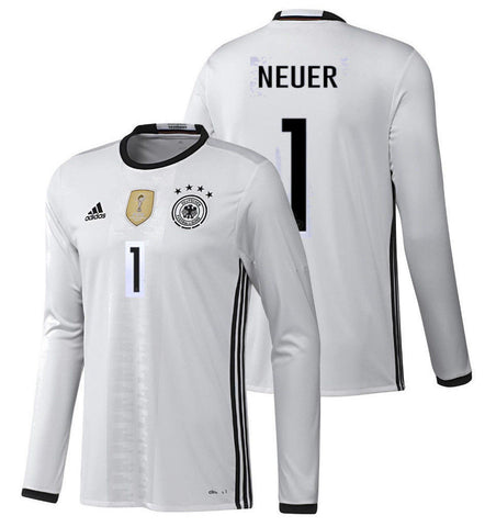 Adidas Neuer Germany Long Sleeve Home Jersey 2016 AA0147