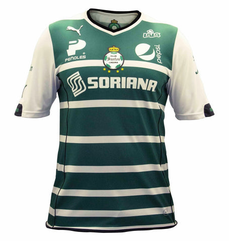 PUMA SANTOS LAGUNA AWAY JERSEY 2014 HONOR White/Green.