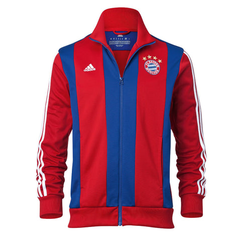 ADIDAS BAYERN MUNICH ANTHEM TRACK TOP JACKET Red/Blue.