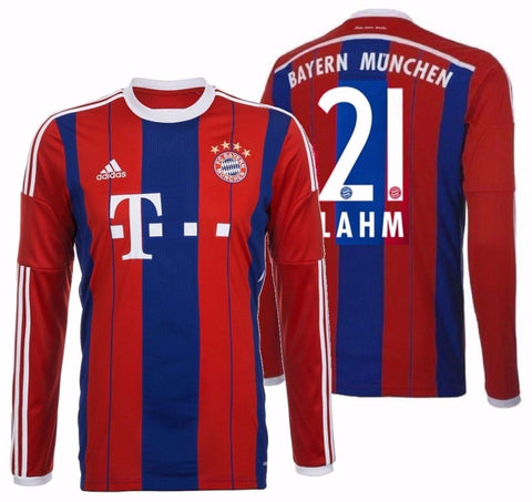info for a9519 646dd ADIDAS PHILIPP LAHM BAYERN MUNICH LONG SLEEVE HOME JERSEY 2014/15.