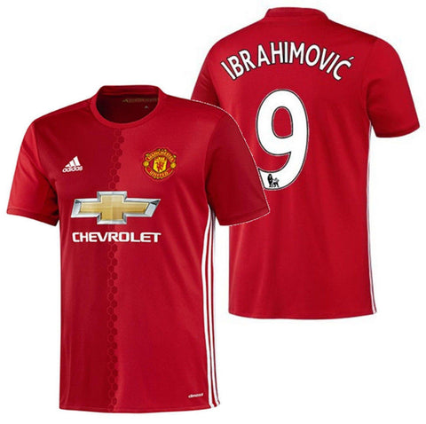 ADIDAS ZLATAN IBRAHIMOVIC MANCHESTER UNITED HOME JERSEY 2016/17