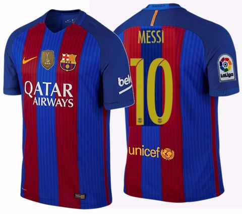 Nike Lionel Messi Fc Barcelona Authentic Vapor Match Home Jersey 2016 Realfootballusa Net
