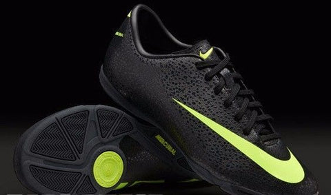 NIKE CRISTIANO RONALDO MERCURIAL VICTORY II CR IC INDOOR SOCCER CR7 SHOE Black.