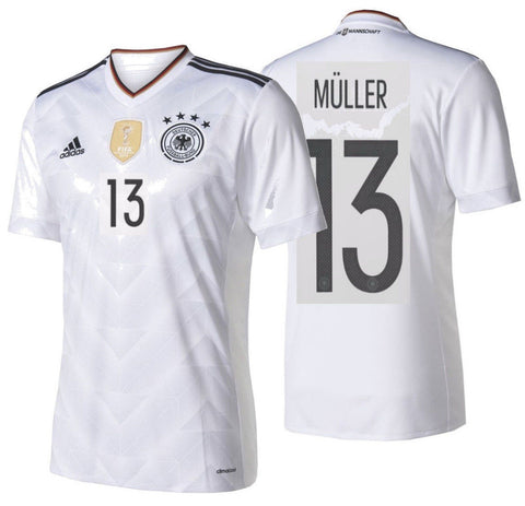 ADIDAS THOMAS MULLER GERMANY HOME JERSEY FIFA CONFEDERATIONS CUP 2017 White/Blck